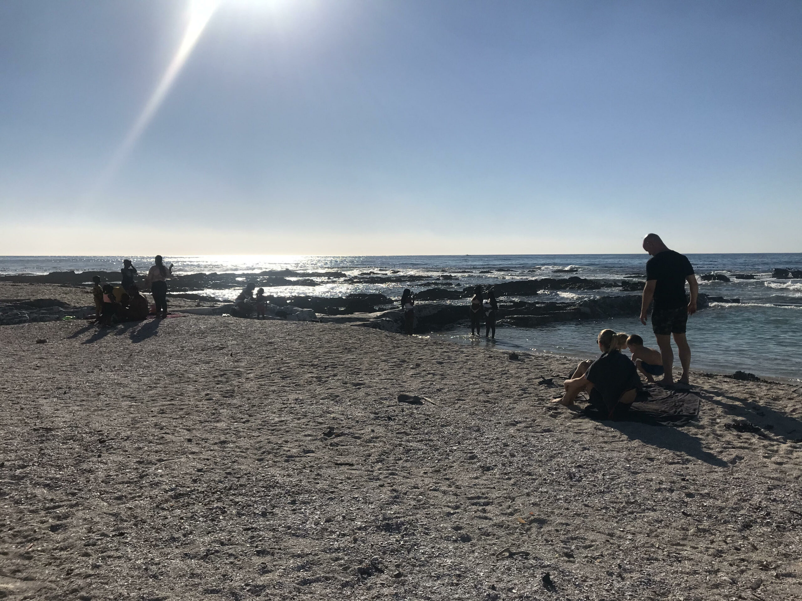 Sea point Cape Town maskless beach goers