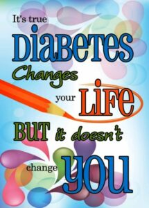 Banner ad for diabetes which changes lives but not you