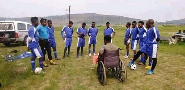 Paraplegic soccer player turned coach bogged down without motorised chair