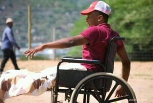 A soccer coach who needs a motorised wheelchair as he trains his team