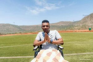 Wheelchair bound soccer coach appeals for motorised chair