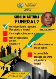 Poster about funerals