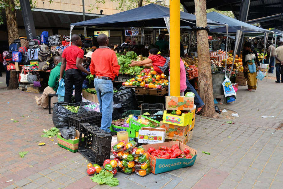 Fresh fruit and vegetables on sale in Cape Town