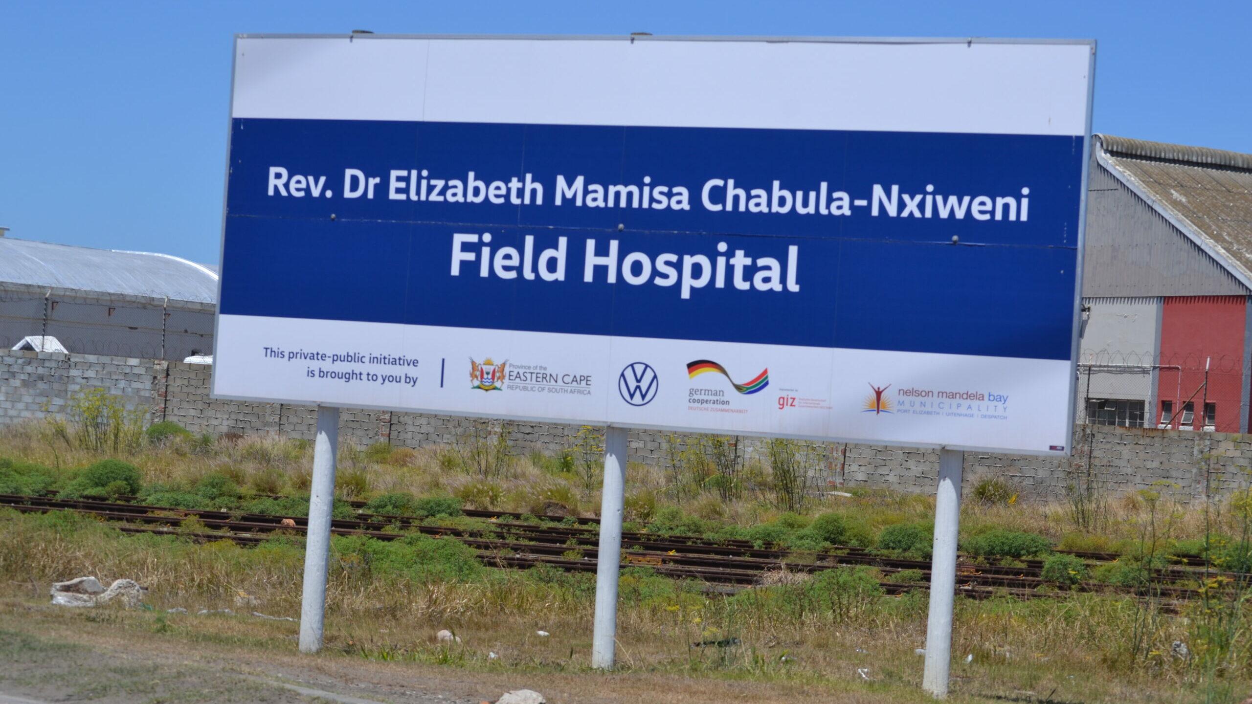 Port Elizabeth field hospital nurses unpaid