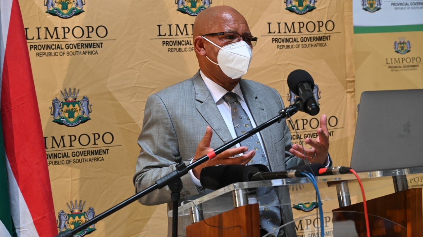 Premier Chupu Mathabatha Vaccine Roll-Out Strategy Media Briefing at Office of the Premier Atrium.