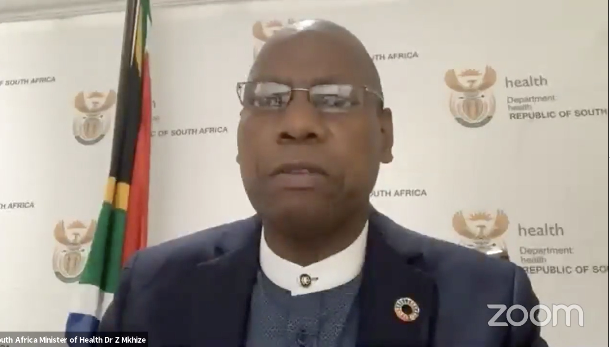 Dr Zweli Mkhize South Africa's health minister speaking on Facebook Live.