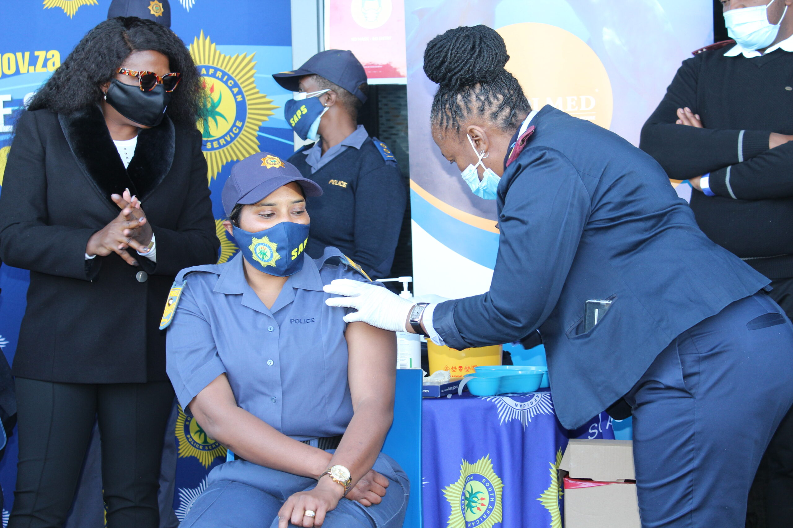 The South African Police Service is being vaccinated as of early July 2021