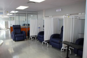 Newly-opened oncology unit at Rob Ferreira Hospital.