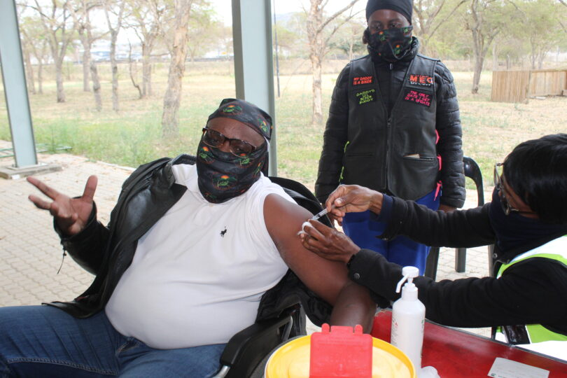 Mpumalanga bikers working with department of health in encouraging people to receive COVID-19 vaccines.