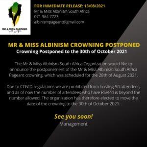 Sasekani vying for Miss Albinism SA crown.