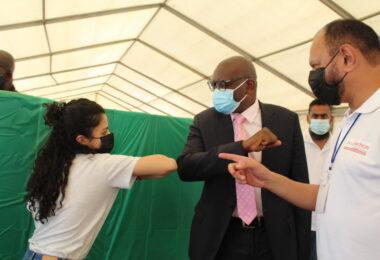 Gauteng premier David Makhuru praised the Zwartkops Raceway COVID-19 vaccine drive-through site.