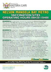 Nelson Mandela Bay metro vaccination sites