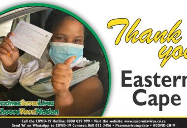 Eastern Cape celebrates 1-million COVID-19 vaccination milestone.